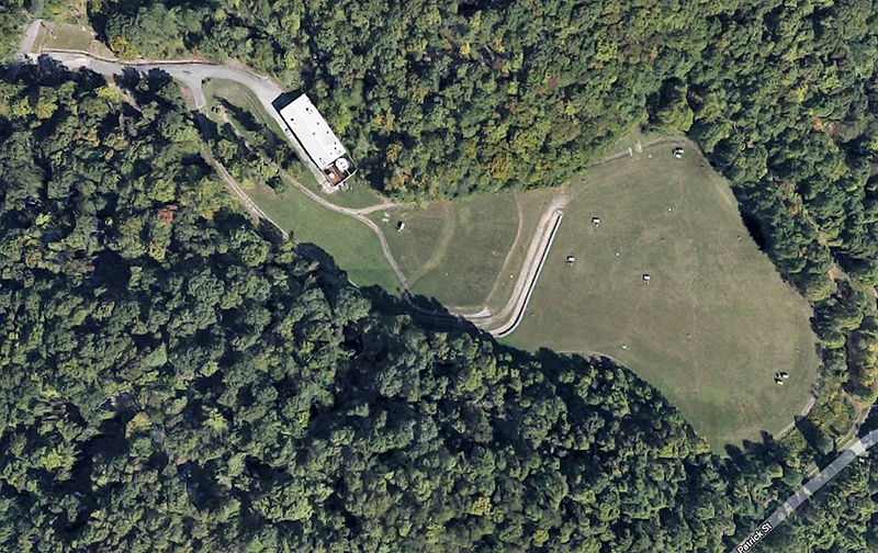 Arial view of site